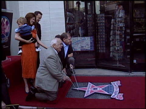 tom hanks at the dediction of robert zemeckis' walk of fame star at the hollywood walk of fame in hollywood california on november 5 2004 - robert zemeckis stock videos and b-roll footage