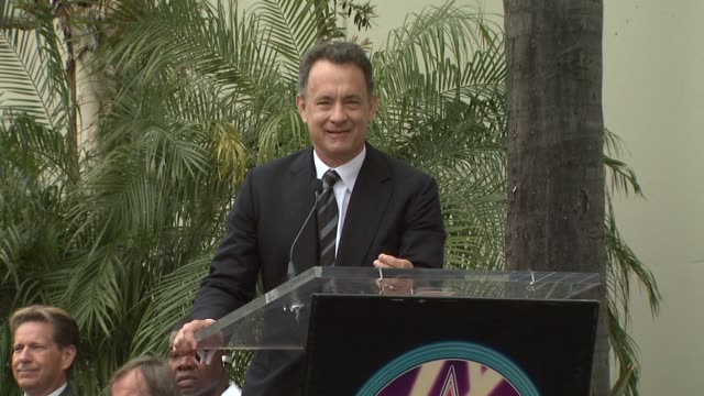 tom hanks at the george harrison receives star posthumously on the hollywood walk of fa at hollywood ca - george harrison stock videos & royalty-free footage