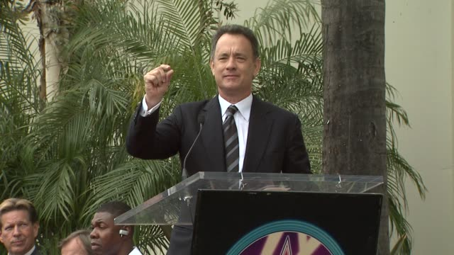 tom hanks at the george harrison receives star posthumously on the hollywood walk of fa at hollywood ca. - tom hanks stock videos & royalty-free footage