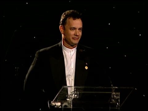 Tom Hanks at the One Giant Leap for Mankind Benefit at the Museum of Flying Santa Monica Airport in Santa Monica California on September 20 1996