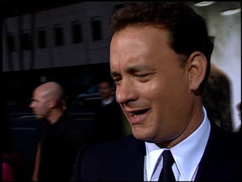 Tom Hanks at the 'Road to Perdition' Premiere at Academy Theater in Beverly Hills California on July 10 2002