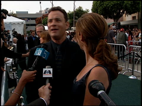 Tom Hanks at the 'Saving Private Ryan' Premiere at Mann Theatre in Westwood California on July 21 1998