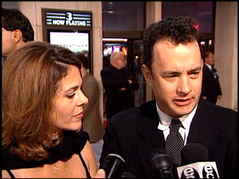 tom hanks at the 'that thing you do' premiere at cineplex odeon in century city, california on october 1, 1996. - 1996 stock videos & royalty-free footage