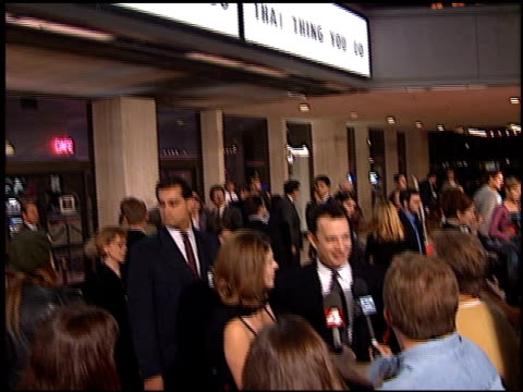 tom hanks at the 'that thing you do' premiere at cineplex odeon in century city california on october 1 1996 - odeon cinemas stock videos & royalty-free footage
