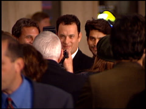tom hanks at the 'that thing you do' premiere at cineplex odeon in century city, california on october 1, 1996. - odeon cinemas点の映像素材/bロール