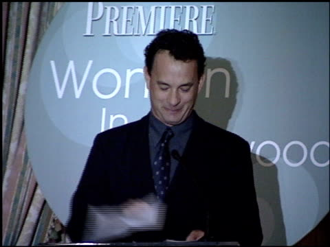 Tom Hanks at the Women in Hollywood Luncheon at the Four Seasons Hotel in Beverly Hills California on October 11 2000