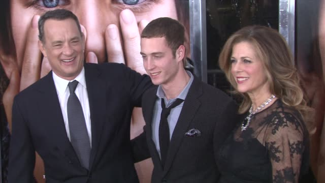 Tom Hanks Chester Marlon Hanks and Rita Wilson at 'Extremely Loud Incredibly Close' New York Premiere New York NY United States