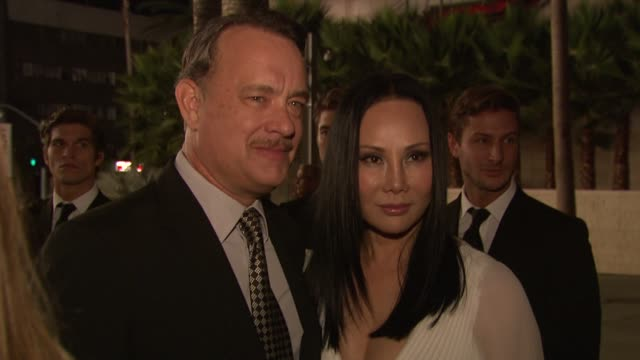 Tom Hanks Eva Chow at LACMA Hosts 2012 Art Film Gala Honoring Ed Ruscha And Stanley Kubrick Presented By Gucci on 10/26/12 in Los Angeles CA