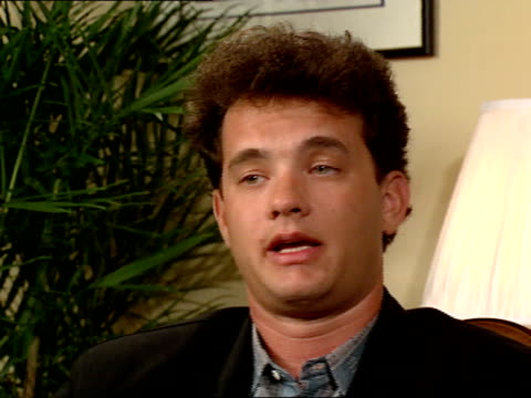 Tom Hanks gives an interview about his acting career