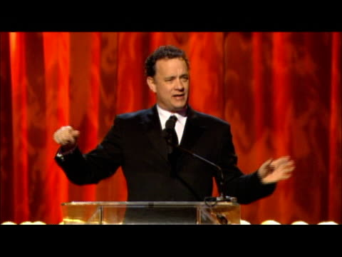 Tom Hanks honors Robert Zemeckis at the 3rd Annual Visual Effects Society Awards at Hollywood Palladium in Hollywood California on February 16 2005