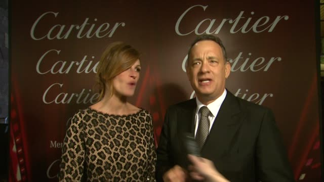 INTERVIEW Tom Hanks Julia Roberts on each being honored at the festival at the 25th Annual Palm Springs International Film Festival Awards Gala...