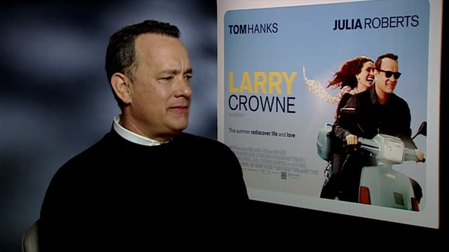 Tom Hanks on being a hands on Actor/Director his experience in film making preferring to be on set at the 'Larry Crowne' Junket at London England
