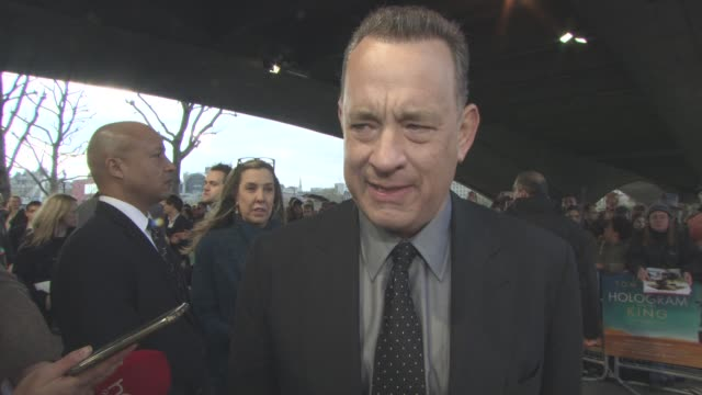 INTERVIEW Tom Hanks on his outlook on life taking risks in life what being 60 means to him at 'A Hologram For The King' UK Film Premiere at BFI...