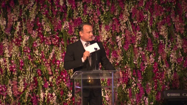 tom hanks on stanley kubric at lacma hosts 2012 art film gala honoring ed ruscha and stanley kubrick presented by gucci on 10/27/12 in los angeles ca - tom hanks stock videos & royalty-free footage