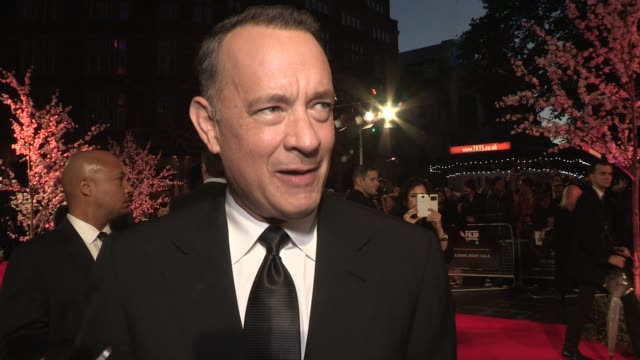 interview tom hanks on the bfi and shopping at odeon leicester square on october 20 2013 in london england - tom hanks stock videos & royalty-free footage