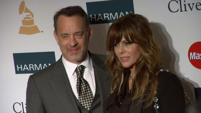 Tom Hanks Rita Wilson at Clive Davis And The Recording Academy's 2012 PreGRAMMY Gala And Salute To Industry Icons Honoring Richard Branson on 2/11/12...