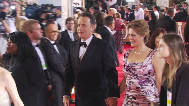 Tom Hanks Rita Wilson at the 67th Annual Golden Globe Awards Arrivals Part 1 at Beverly Hills CA
