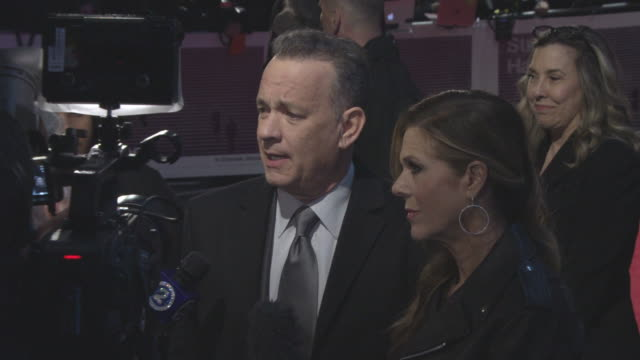 Tom Hanks Rita Wilson at 'The Post' European Premiere on January 10 2018 in London England