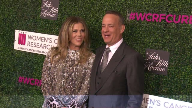 "tom hanks, rita wilson at wcrf's ""an unforgettable evening"" presented by saks fifth avenue in los angeles, ca 2/16/17 - tom hanks stock videos & royalty-free footage"