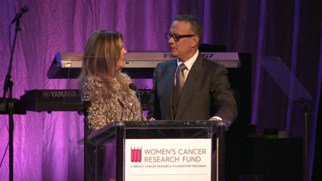 "SPEECH Tom Hanks Rita Wilson at WCRF's ""An Unforgettable Evening"" Presented by Saks Fifth Avenue in Los Angeles CA"
