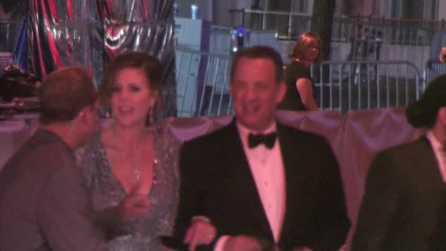 Tom Hanks Rita Wilson leaving the 2011 BAFTA Brits To Watch Event in Los Angeles