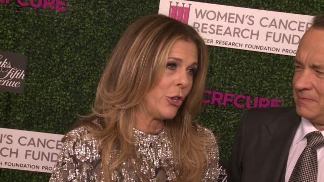 "INTERVIEW Tom Hanks Rita Wilson on chairing this event for the past 20 years talks about WCRF's fundraising at WCRF's ""An Unforgettable Evening""..."
