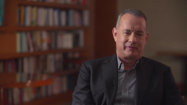 Tom Hanks saying 'America is a place of relentless ongoing chances' and that 'you get to remake yourself in the United States'