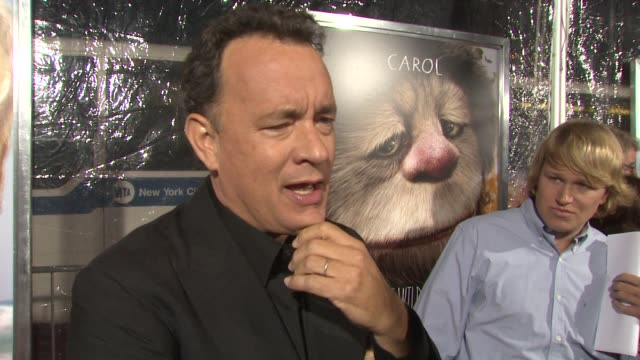 Tom Hanks talks about being a producer on the movie on his wife at the 'Where the Wild Things Are' New York Premiere at New York NY