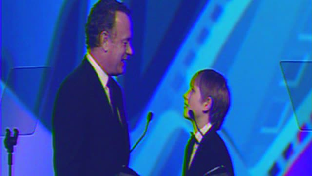 Tom Hanks Thomas Horn at The 23rd Annual Palm Springs International Film Festival Awards Gala on in Palm Springs CA