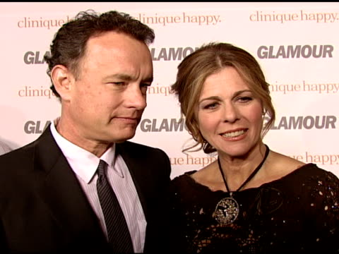 tom hanks with rita wilson on how it feels to support his wife this evening, their conversations about directing, and what makes them happy at the... - directing stock videos & royalty-free footage