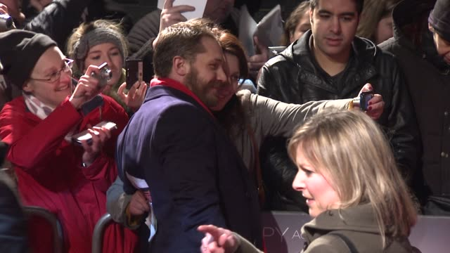 tom hardy at this means war uk premiere at odeon kensington on january 30, 2012 in london, england - war stock-videos und b-roll-filmmaterial