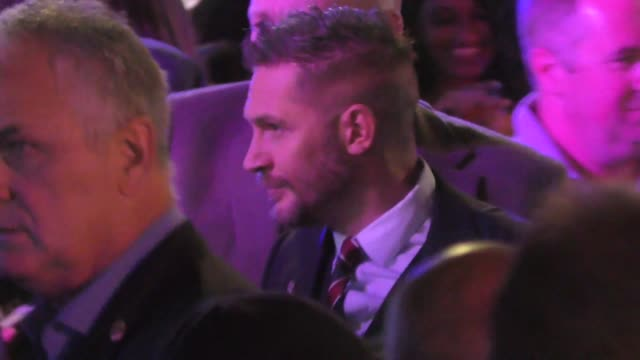 tom hardy greets fans at the premiere of venom at regency village theatre in westwood in celebrity sightings in los angeles, - regency village theater stock videos & royalty-free footage