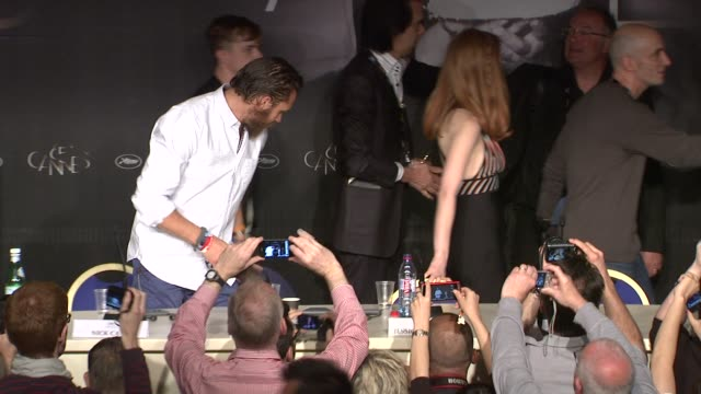 Tom Hardy Jessica Chastain at Lawless Press Conference 65th Cannes Film Festival at Palais des Festivals on May 19 2012 in Cannes France