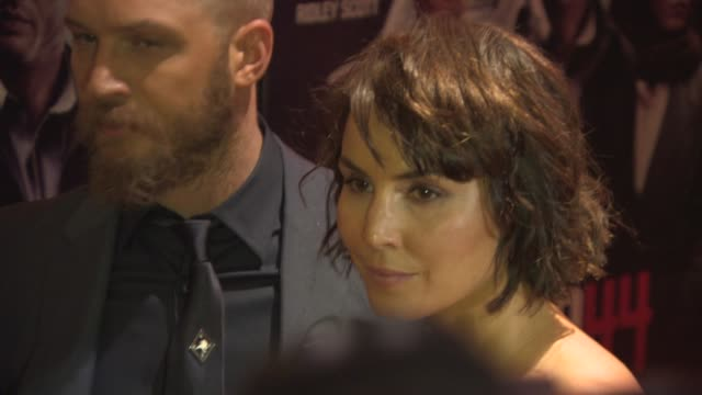 BROLL Tom Hardy Noomi Rapace at 'Child 44' at Vue Leicester Square on April 16 2015 in London England