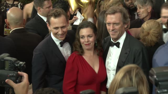 Tom Hiddleston and Hugh Laurie at the 68th Annual Primetime Emmy Awards Arrivals at Microsoft Theater on September 18 2016 in Los Angeles California