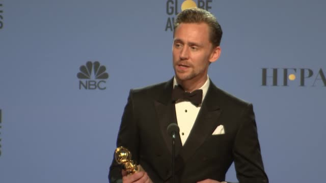SPEECH Tom Hiddleston at 74th Annual Golden Globe Awards Press Room at The Beverly Hilton Hotel on January 08 2017 in Beverly Hills California