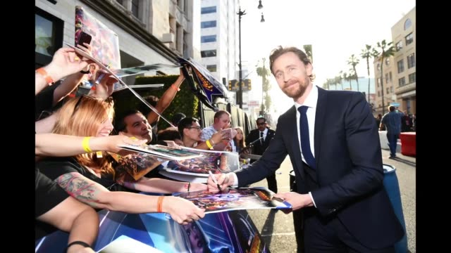 Tom Hiddleston attends the premiere of Disney and Marvel's 'Avengers Infinity War' on April 23 2018 in Los Angeles California