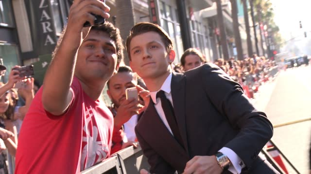 "Tom Holland at Audi Arrivals at The World Premiere of ""SpiderMan Homecoming"" in Los Angeles CA"