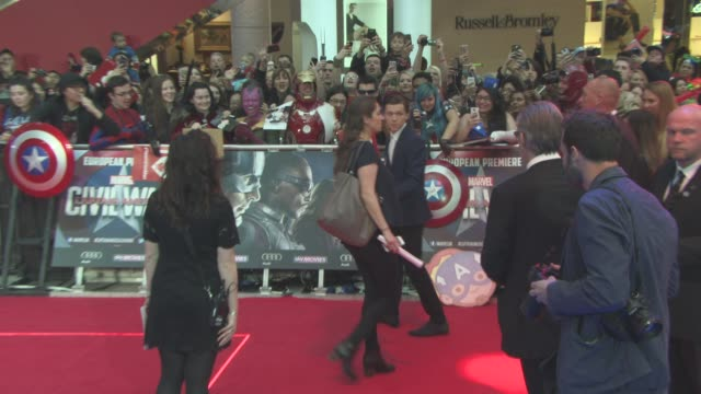 Tom Holland at 'Captain America Civil War' European Premiere at Vue Westfield on April 26 2016 in London England