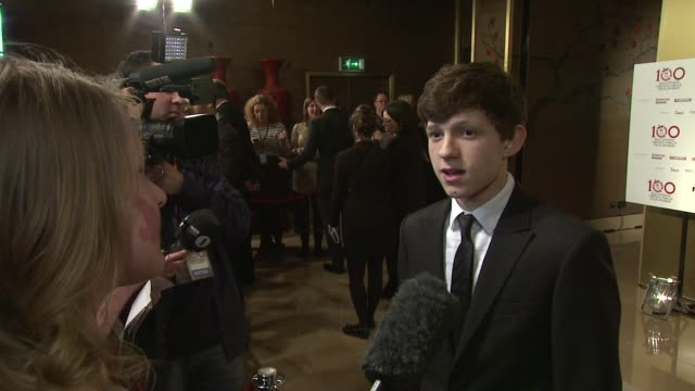tom holland at the london critic circle awards at may fair hotel on january 20, 2013 in london, england - critic stock videos & royalty-free footage