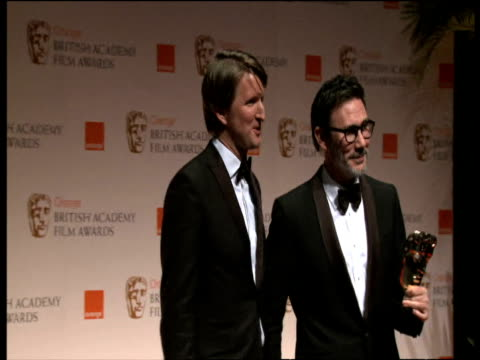 Tom Hooper and Michel Hazanavicius at the Orange British Academy Film Awards 2012 Press Room Tom Hooper and Michel Hazanavicius at the Orange B at...