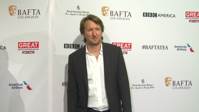 tom hooper at the bafta los angeles awards season tea party at four seasons hotel los angeles at beverly hills on january 09 2016 in los angeles... - tea party stock videos and b-roll footage