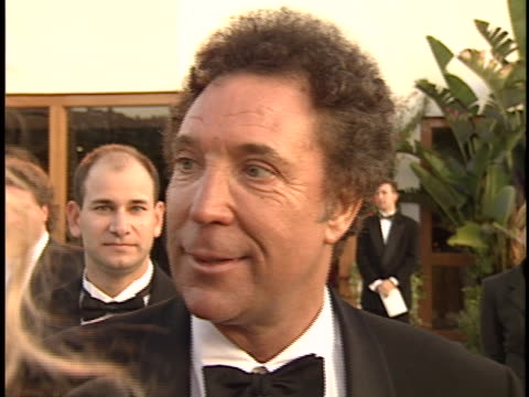 tom jones at the academy awards 95 morton party at mortons west hollywood in west hollywood ca - 67th annual academy awards stock videos & royalty-free footage