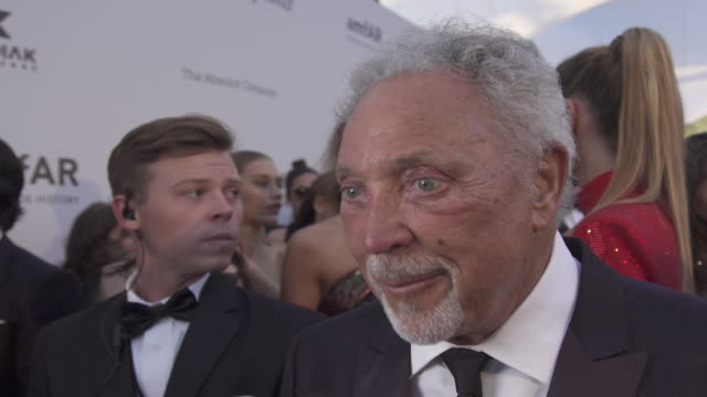 INTERVIEW Tom Jones on all the good that comes from the amfAR event at the amfAR Cannes Gala 2019 Arrivals at Hotel du CapEdenRoc on May 23 2019 in...