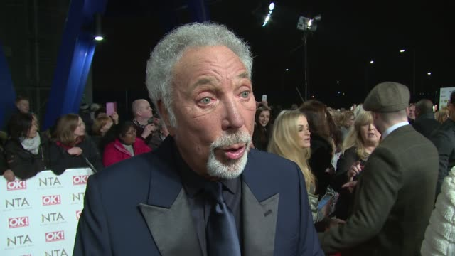 interview tom jones on the voice cojudges rival shows and the bbc at the o2 arena on january 25 2017 in london england - reality fernsehen stock-videos und b-roll-filmmaterial