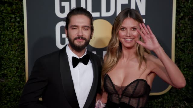 tom kaulitz and heidi klum at the 76th annual golden globe awards at the beverly hilton hotel on january 06 2019 in beverly hills california arrivals... - golden globe awards stock-videos und b-roll-filmmaterial