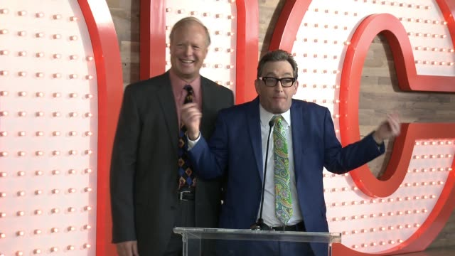 SPEECH Tom Kenny Bill Fagerbakke at Nickelodeon's StateOfTheArt Complex Grand Opening And Ribbon Cutting Ceremony on January 11 2017 in Burbank...