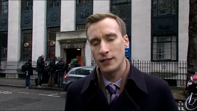 Tom Maynard inquest hears he was over legal alcohol limit and had taken drugs Westminster Coroner's Court EXT Reporter to camera