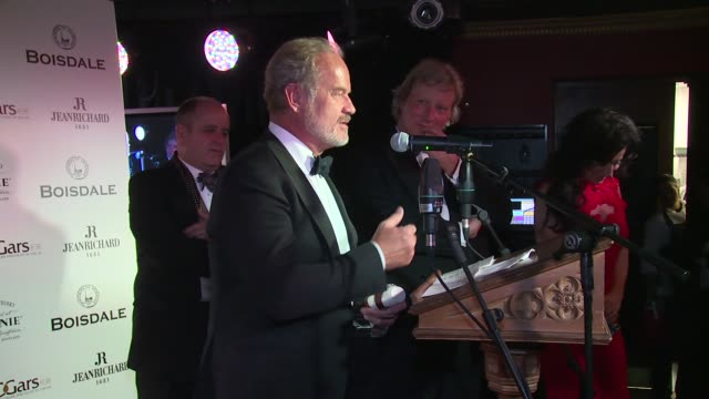 tom parker bowles and kelsey grammer at the spectator cigar smoker of the year awards on 16th november 2014 in london england - cigar stock videos & royalty-free footage