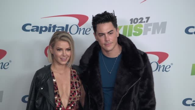 Tom Sandoval and Ariana Madix at the KIIS FM's iHeartRadio Jingle Ball 2017 at The Forum on December 1 2017 in Inglewood California